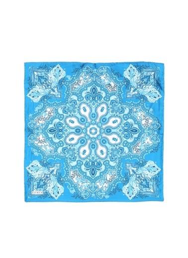 Beymen Beymen Desenli Mavi  Eşarp Mavi